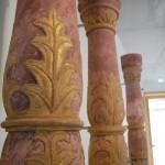 Säulen von Schloss Mansfeld im Museum Luthers Elternhaus