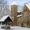 Schlosshof im Schnee
